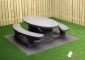Picknickset Standard Anthrazit-Beton oval