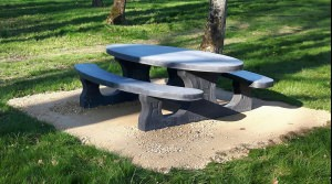 Picknickset Standard Anthrazit oval